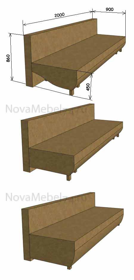 варианты сборки дивана еврокнижка