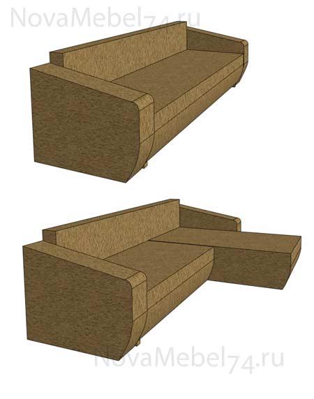 сделать диван еврокнижка с подлокотниками